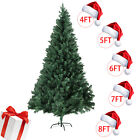 4 5 6 7 8FT Christmas Tree Stand Indoor Outdoor Holiday Season Artificial PVC
