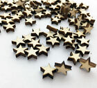 Popular 100pcs Wooden Blank Small Star Shapes Embellishments Crafts