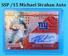 SSP 15 Auto Michael Strahan Signed 2016 Panini Electric Etch Prizm Giants HOF