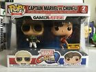 Funko POP! Marvel v Capcom 2-Pack CAPTAIN MARVEL VS CHUN-LI Hot Topic Exclusive!