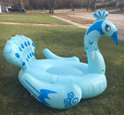 Color You Inflatable Peacock Swimming Pool Floats Ride on Party Tube Giant Raft