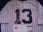 NEW YORK YANKEES ALEX RODRIGUEZ GAME USED SIGNED 1997 RBI BONDS JERSEY STEINER
