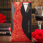 CW3072 Hot Red Black BrideGroom Wedding Invitations Cards Personalized Print