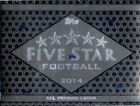 2014 Topps Five Star Football Hobby Box Pack (6 Cards)(Sealed)