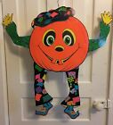 Vintage 1976 Beistle 30 Jointed Halloween Pumpkin Goblin Decoration Mid Century