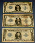 3 HORSE BLANKET One Dollar 1 Currency Bill Silver CERTIFICATE