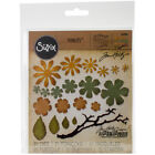 Sizzix Thinlits Dies By Tim Holtz 21 Pkg Small Tattered Florals Part 661806 by