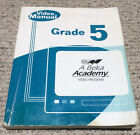 ABeka 5th grade GRADE 5 VIDEO MANUAL Daily Lesson Guide for All Subjects