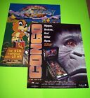 Original Williams Pinball Machine LARGE Promo Posters No Good Gofers