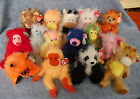 W-F-L Ty Punkies Selection Teddy Cow Monkey Dog Cat Stuffed Toy Beanie Babies