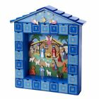 Advent Calendar Wooden Christmas Nativity 14 Inch New
