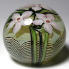 Early 1978 Orient & Flume Pink Dogwood Flowers Paperweight - Complex Millefiori