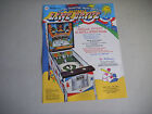 LINE DRIVE  FOLDED  WILLIAMS   PINBALL  ARCADE GAME  FLYER