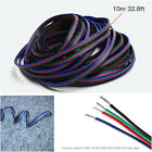 4 PIN RGB Extension Wire Cable Cord Connector for LED Car Strip Light 10m 328FT