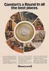 1973 Honeywell Thermostat: Comforts a Round In All the Best Vintage Print Ad
