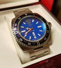 Zodiac V-Wolf Blue ZO2308 Swiss Men's Dive Watch 1882 Full Size Mint Low #