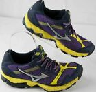 womens sz 7 Mizuno Wave Ascend 8 purple yellow running sneakers shoes preowned