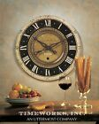 French Country Brass Pendulum Wall Clock Exposed Gears