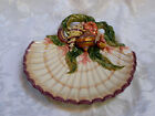 Fitz and Floyd Oceana Nautilus Shell 10 1/2 Inch Serving Platter