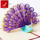 US SHIP 3D Pop Up Greeting Card Peacock Birthday Easter Chrismas Gift Card