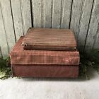 Set of 3 Primitive Red Homespun Gingham Check Fabric Covered Books Reproduction