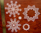 15 Tattered Lace Falling Snowflake CARD TOPPER die cut out set Glistening Large