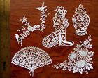 10 Tattered Lace Oriental Collection Japanese Set CARD TOPPER die cut out