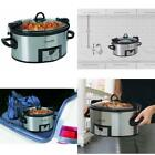 Crock-Pot Programmable Cook Carry 6Qt W/ Timer Slow Cooker Stainless Steel Xmas