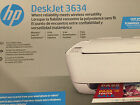 New HP 3634 3631 deskjet Printer copy scan wireless USB mobile printing NEW
