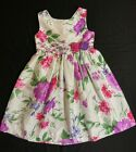 Cherokee Girls White Floral Print Lined Easter Spring Dress Sz 6 EUC Worn Once