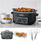 4IN1 Cooking Baker System 4 Function Roast Stove Top Slow Cook Oven Steam 1 Pot
