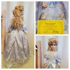 Knightsbridge Collection Genuine Porcelain Doll Blonde Hair Display Stand NEW