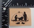 PSX Nativity Scene Rubber Stamp D209