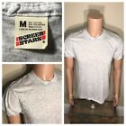 Vintage NOS Blank Gray Screen Stars TShirt 50 50 Soft paper Thin 80s DEADSTOCK