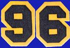 CHENILLE PATCH BLUE YELLOW GOLD NUMBER 1996 96 NOTRE DAME CAL USNA NAVY MICHIGAN