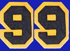 CHENILLE PATCH BLUE YELLOW GOLD NUMBER 1999 99 NOTRE DAME CAL USNA NAVY MICHIGAN