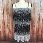 Heart Soul Dress Juniors Small Black White Tiered Layer Summer Adjustable Strap