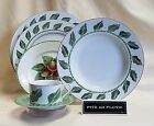 FITZ FLOYD FIGARO SERVING PLATE, DINNER, SALAD, RIM SOUP, CUP & SAUCER *NEW*