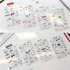 8 Sheets Simple Paper Sticker for Diary Notebook Mobile Phone Bullet Journal DIY