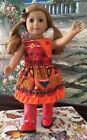 Western Cowgirl Dress and boots  for 18in. Amercian Girl Doll