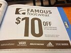 Famous Footwear 10 Off 50 or More Valid 9 1 2017 12 31 2018