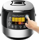 LED Touch Control Electric Rice Cooker - Elechomes CR502 10 Cups(Uncooked) Rice