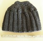 Handmade Crocheted Messy Bun Hat One Size Fits All