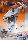 Alex Wood Autograph 1 5 Dodgers World Series Win Hitless IP 2017 topps NOW AUTO
