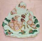 Fitz and Floyd Snowy Woods Santa and Rabbits Serving Plate Platter Wall Hanging