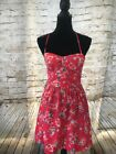 American Eagle Outfitters Hot Pink Floral Sweat heart Summer Dress Size 4