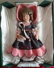Beautiful Vintage All Cloth Felt Italian Lenci Doll 28 w Original Box and Paper