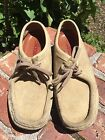 Clarke Originals Wallabee Shoes Mens Sand Suede Sz 75 Style 35395