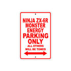 KAWASAKI NINJA ZX-6R MONSTER ENERGY Parking Only Motorcycle Bike Aluminum Sign