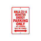 KAWASAKI NINJA ZX-14 MONSTER ENERGY Parking Only Motorcycle Bike Aluminum Sign